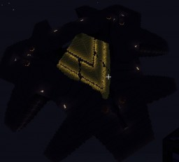 Stargate SG1 Ha'tak vessel with detailed interior Minecraft