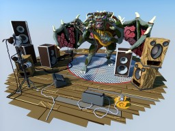 Esther the Dragon plays guitar Minecraft Map & Project