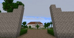 Modern Southern Mansion with big Garden Minecraft