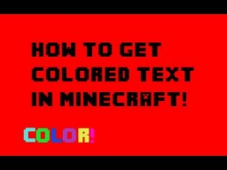 How to make colored text with Bold text Minecraft Blog