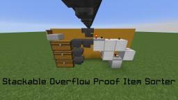 Item Sorter || Stackable & Overflow Proof! + Silent Item Elevator Minecraft Map & Project