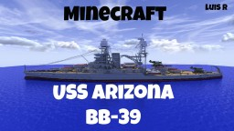 USS Arizona BB-39 Minecraft Map & Project