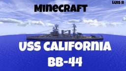 USS California BB-44 Minecraft Map & Project