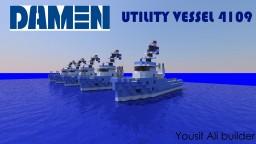 Damen Utility Vessel 4109 [1:1 Scale] + Download Minecraft Map & Project