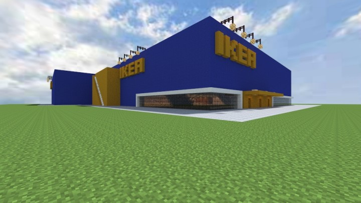 Ikea furniture store over 17 000 blocks surface for Craft com online shopping