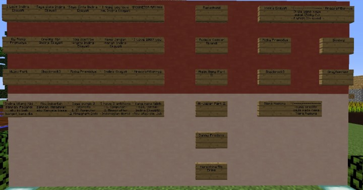 Credits on Indonesian Flag Wall