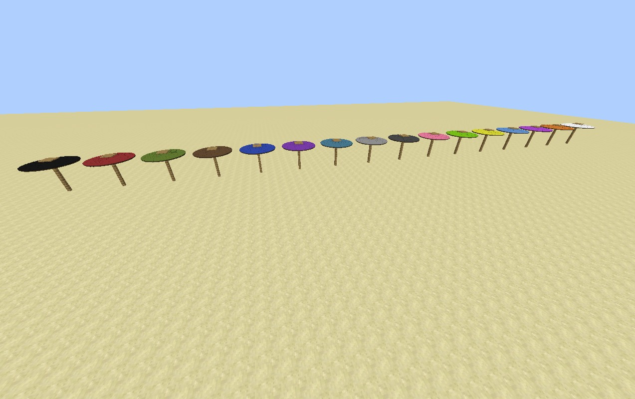 Umbrellas In 1 Command Minecraft Blog