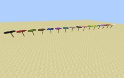 Umbrellas in 1 command Minecraft Blog Post