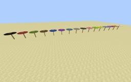 Umbrellas in 1 command Minecraft