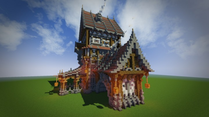 Medieval Mondays 1 Large House Minecraft Project