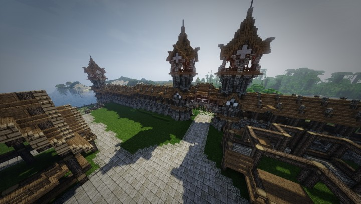 medieval wall design city gatewall design minecraft project