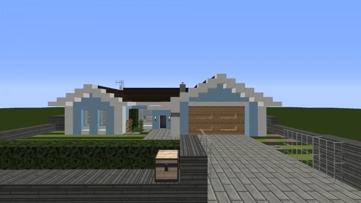 Small cozy suburban house minecraft project for Suburban house blueprints