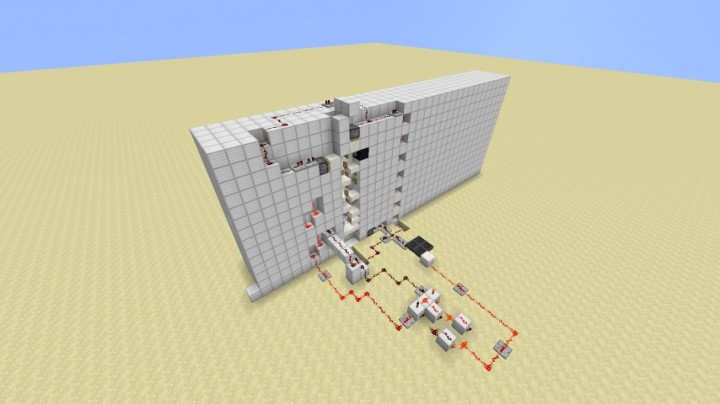minecraft how to make a fence gate elevator