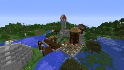 Medieval Village/town Minecraft Map & Project