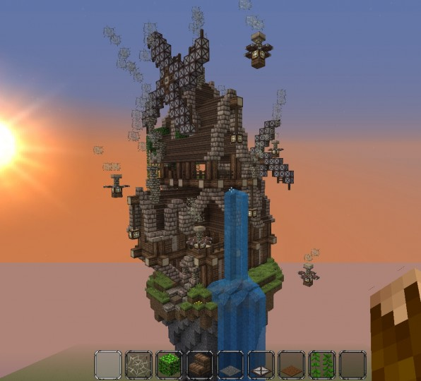 Steampunk Floating Island House Minecraft Project