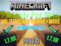 Mo, Items And Armor + More Minecraft Mod