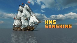 Brig: ~*H.M.S Sunshine*~ Full interior build - World DL Minecraft Map & Project