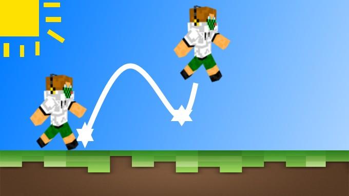 how to strafe jump minecraft