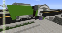 [ Minecraft Vehicles ] Garbage Truck | Side Loader | Garbage Cans Included!