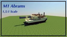 M1 Abrams   1,5:1 scale Minecraft