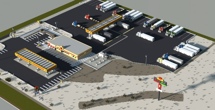 100 Gas Near Me >> Nevada Truck Stop Minecraft Project