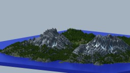 The 2 Peaks - World Machine Terrain (2k x 2k) Minecraft Map & Project
