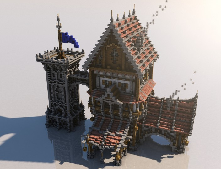 Medieval mondays 1 large house minecraft project for Medieval house design