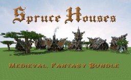 Minecraft House bundle: Spruce Edition (Download available) Minecraft Map & Project