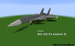 SU-33 Flanker D [5:1] Minecraft Map & Project