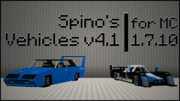 Spino's Vehicles v4.1 - Content pack for Flan's Mod Minecraft Mod