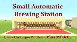 Tutorial : Small Automatic Brewing Station 4 Blocks tall Minecraft Map & Project