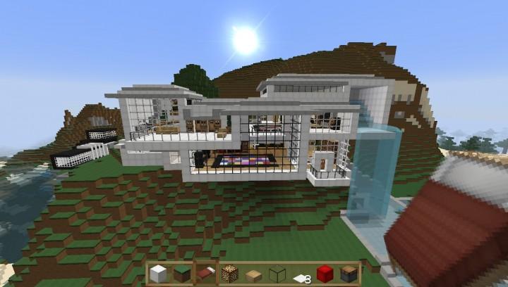 Modern Cliff House Minecraft Map