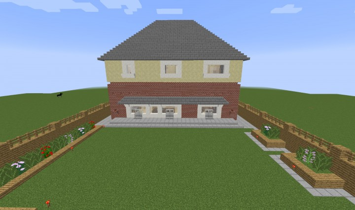 Fully Redstone Functional 3 Bedroom House Minecraft Project