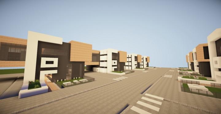 Maison moderne de ville/Modern city house Minecraft Project