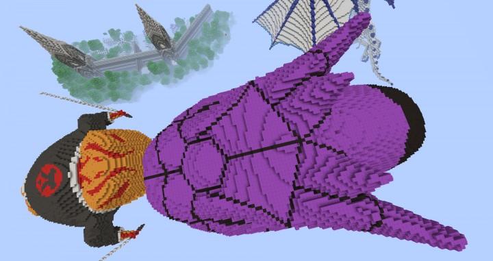 Manda from Naruto Shippuden Minecraft Project