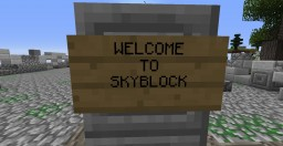 Perfect Skyblock world for making your server look like a veteren Minecraft