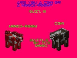Quiz : Are you a Cow or a Mooshroom? Minecraft Blog Post