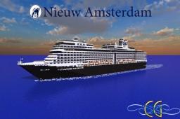 Nieuw Amsterdam 1:1 Scale Cruise Ship Replica [Full-Interior] [+Download] Minecraft Map & Project