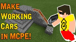 MAKE WORKING CARS IN MCPE! EASY ! [TUTORIAL] Minecraft Blog Post