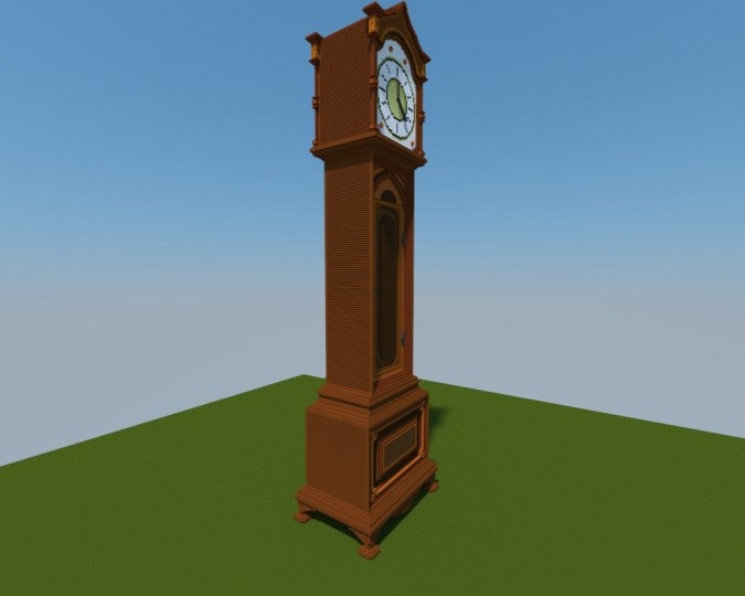how to make a grandfather clock in minecraft