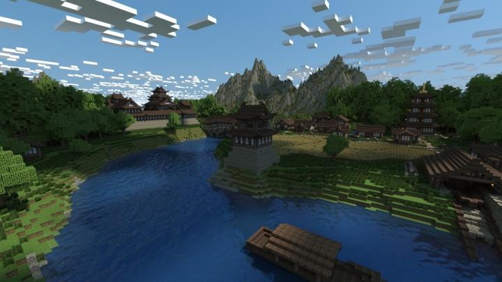 project details - Minecraft Japanese Village