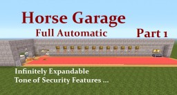 Minecraft Tutorial : (1.8.3) Horse Garage, Full Automatic Minecraft Map & Project