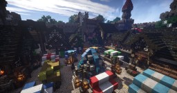 Epic Medieval/Fantasy Castle and Town Minecraft Project