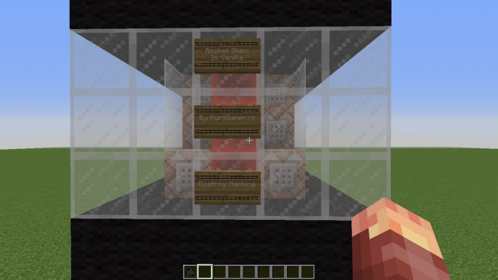 how to make a rocket in minecraft with command blocks