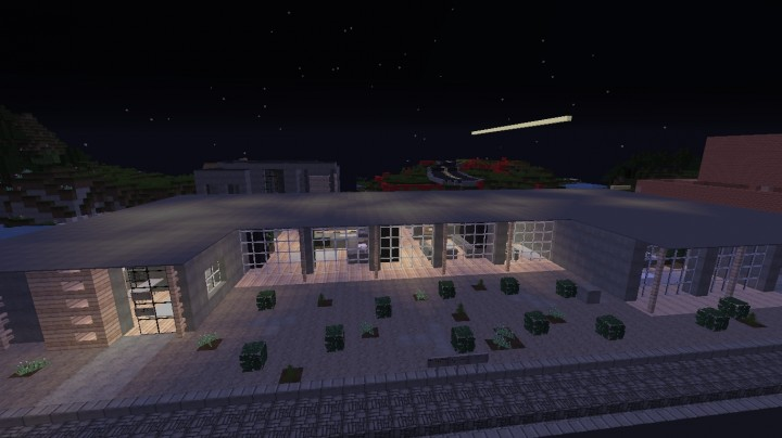 Modern House Stone And Birch Wood Minecraft Project