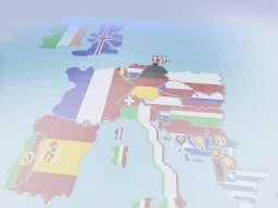 Europe in Flags Minecraft Project