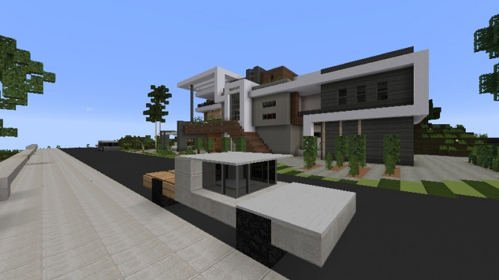 Modern house project minecraft project for Modern house projects