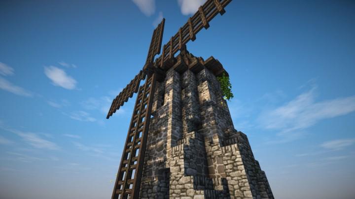 [Schematic] Medieval Windmill Minecraft Project