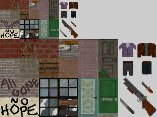 Bricks, planks, windows and doors. Followed by clothing and a few weapons.