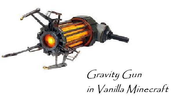 One command block 1 1 8 gravity gun with only one command block 1